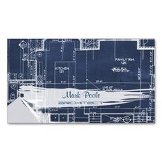 PixDezines chalkboard architect blueprints Business Card Templates