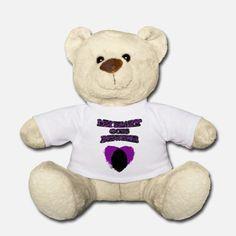 'My Heart Goes Newfie Purple Heart' Teddybär | Spreadshirt