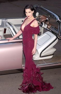 I am sure I have several shots of Dita in this dress through this board.  But it is one helluva dress, and she looks phenomenal.
