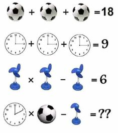 This is an easy maths equation picture puzzle to test your mathematical skills. Solving this math picture puzzle will help you to improve your maths skills. Study the given algebraic equations carefully and find the value of the Triangle and Star. Math Puzzles Brain Teasers, Math Logic Puzzles, Math Quizzes, Math For Kids, Fun Math, Math Games, Sistema Linear, Iq Puzzle, Math Talk