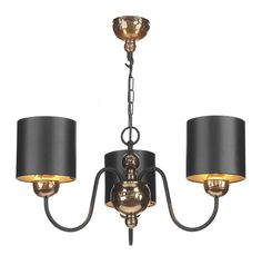 The 3 light Garbo in Bronze is a magnificent chandelier from the David Hunt range, as featured by Dar. The Garbo has a black metal-work frame featuring bronze faceted resin Chandelier Lamp Shades, Candle Shades, Bronze Chandelier, Chandelier Lighting, Chandeliers, 3 Light Pendant, Ceiling Pendant, Ceiling Light Design, Ceiling Lights