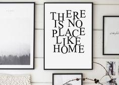 Il y a pas lieu comme à la maison impression par GalaDigitalPrints