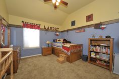 Tastefully done, western themed little boy's room.