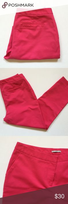 """New ListingHalogen (Taylor Fit) Ankle Pants Pink is HOT!   These ankle pants with add color to your overall outfit.  Pants are comfortable and have pockets. Material:  63% Cotton/34% Polyester/3% Spandex. measurements: Length 34""""/Waist - 14.5""""/Inseam - 24.5"""" Halogen Pants Ankle & Cropped"""