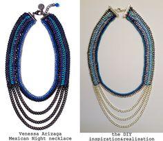 DIY Venessa Arizaga multi-strand necklace