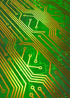 Circuit board electronics technology concept