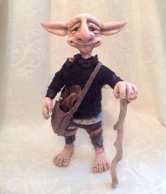 Handmade polymer clay troll fantasy art doll one by Angelasanimals