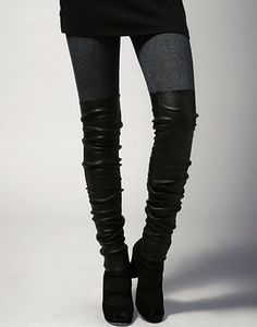 Leg Warmers and Heels | IM NOT A FAN OF LEG WARMERS BUT THESE LEATHER LEG WARMERS GIVES THE ...