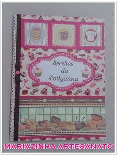 Pasta catálogo para receitas #receitas #pastaparareceitas #handmade #artesanato #cozinha #mariazinhaartesanato