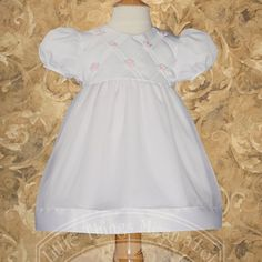 44 99 54 00 baby baby girls white organza rosebud baptism dress gown