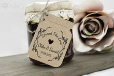 Wedding Favour Jam Jar Gift Tags Thank You Tags by DoodleDaisy