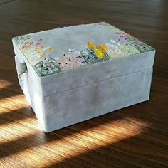 Anthro Jewelry box Suede, two compartments Anthropologie Other