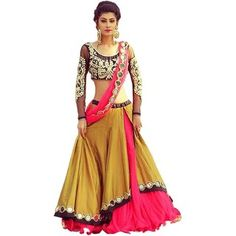 Buy Online Women's Yellow Silk Lehenga Choli Free) Available at Best Price in India! That Gives You Stunning Look. Designer Bridal Lehenga, Bridal Lehenga Choli, Silk Lehenga, Designer Gowns, Silk Dupatta, Designer Wear, Party Wear Lehenga, Party Wear Dresses, Skirts