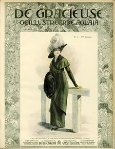 [De Gracieuse] Tailleur-kostumm van ratiné in directoirestijl met fluweelen ceintuur (March 1912) Edwardian Gowns, Edwardian Fashion, Vintage Fashion, Amsterdam, 1914 Fashion, For All Things Lovely, 20th Century Fashion, Gibson Girl, Fashion Plates