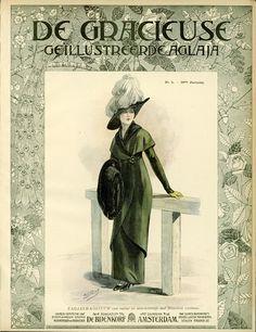 [De Gracieuse] Tailleur-kostumm van ratiné in directoirestijl met fluweelen ceintuur (March 1912)