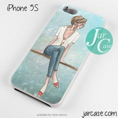 fashion girl Phone case for iPhone 4/4s/5/5c/5s/6/6 plus
