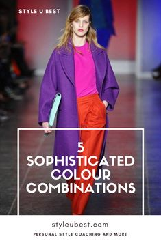 Are you ready to express that unforgettable, bold, and daring woman you are? Go ahead and make a sophisticated statement with unexpected #color schemes from this FREE guide. - #colourcombos #outfit #style #fashion