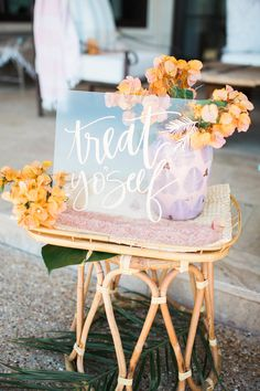 We are in love with this pool party baby shower soaking station featuring our soaking salts. Treat yourself!