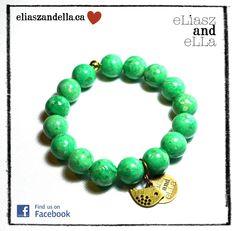 "Eliasz and Ella Jewelry - ""Sweet Spring"" Stone Bracelet, Natural Stones, Turquoise Bracelet, Beaded Bracelets, Treats, Spring, Sweet, Accessories, Jewelry"