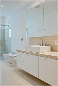 Apê da Ka: Banheiros - Espelho com Armários