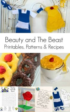 Throw a Beauty and the Beast party with these craft ideas, printables and sweet treats.  #beautyandthebeast #kidpartyideas #disneyparty #freeprintable