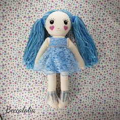 Meet Belle, the newest edition to my daughter Mary's collection of bespoke Beccalalia dolls. She is a dress up doll, complete with a mermaid outfit, a sweet lace dress and yarn hair that can be played with. I always working on these dolls, as it's an opportunity to be experimental.   Love her? I have dolls for sale at www.etsy.com/shop/beccalalia Mermaid Outfit, Dress Up Dolls, Dolls For Sale, Bespoke, Love Her, Opportunity, Harajuku, To My Daughter, Lace Dress