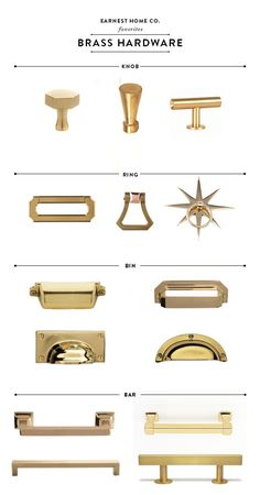 Erin Souder discusses the best brass kitchen hardware in her farmhouse kitchen renovation.