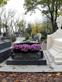 George Harrison grave Some ashes must be here, because they took his ashes to India,,,
