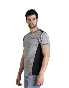 Men's Grey & Black T-shirt – Atheno India