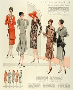 1928 Print McCalls Women Children Flapper Fashion Dressmaking Patterns Frocks | eBay
