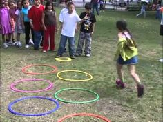 Kids Fitness - Hoops and Domes Set - Oncourt Offcourt like bunny hops and low throwing through hoop