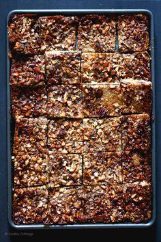 ♡ Sticky nut bars with chocolate to celebrate life! (dairyfree)