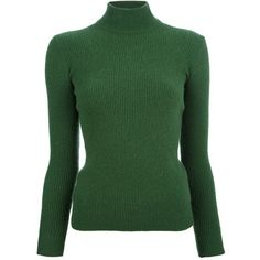 Yves Saint Laurent Vintage Funnel Neck Sweater (180 CAD) ❤ liked on Polyvore featuring tops, sweaters, shirts, green, long sleeves, long sleeve sweater, shirt sweater, cashmere sweater, vintage sweaters and long sleeve shirts