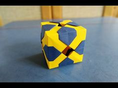 Cube Origami, Modular Origami, Diy And Crafts, Paper Crafts, Weapons, Dads, Youtube, Paper, Cubes