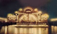 CHICAGO – RIVERVIEW AMUSEMENT PARK – CREATION – NIGHT – 1911    POSTCARD - CHICAGO - RIVERVIEW AMUSEMENT PARK - CREATION - NIGHT - 1911