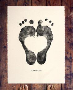 Coeur avec les pieds