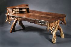 Howdy Partner is a western-style partners (or double) desk for two users working facing each other.