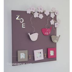 tableau Diy And Crafts, Crafts For Kids, Creation Deco, Home And Deco, Diy Photo, Flower Cards, Decoration, Diy Gifts, Kids Room