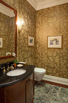 Traditional Powder Room Design Ideas, Pictures, Remodel and Decor