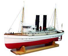 Model Boat Kit Lackawanna Tugboat By Dumas Model Boat