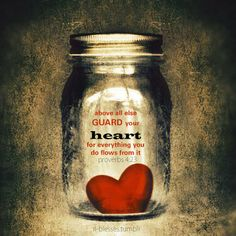 Above all else guard your heart, for everything you do flows from it. ~ Proverbs 4:23