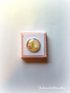 """*NOEL*Mini toile décorative série """" Douce Nuit ... """" n°75 : Accessoires de maison par jademiel-etincelles"""