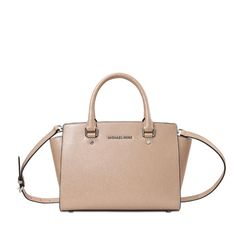 MICHAEL KORS Selma Md Tz Satchel. #michaelkors #bags #shoulder bags #hand bags #nylon #leather #satchel