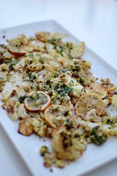 // roasted cauliflower + lemon relish