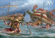 The Battle of Cape Ecnomus 256 BCE by Radu Oltean http://ift.tt/1UCTTMU