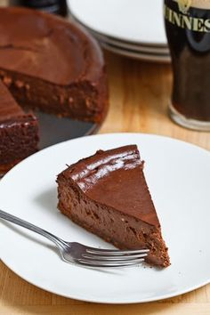 Guinness Chocolate Cheesecake from @ClosetCooking