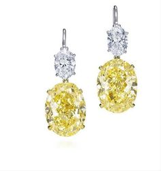 Who is Harry Winston? What Are the Best Harry Winston Mens & Womens Luxury Watches? Harry Winston, Diamond Drop Earrings, Diamond Jewelry, Colored Diamonds, Yellow Diamonds, Pink Sapphire, Mellow Yellow, Diamond Are A Girls Best Friend, Jewelry Collection