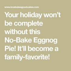 This is a sponsored conversation written by me on behalf of Shamrock Farms. Your holiday won't be complete without this No-Bake Eggnog Pie! It'll become a family-favorite! Eggnog Pie, Instant Pudding, Whipped Topping, Graham Crackers, No Bake Cake, How To Become, Cooking Recipes, Baking, Holiday