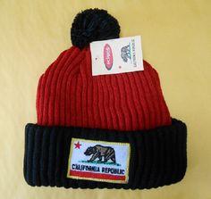 California Republic Red and Black Beanie 306552 | eBay  Cali beanie!  http://www.ebay.com/itm/California-Republic-Red-and-Black-Beanie-306552-/330939242368?pt=US_Hats=item4d0d841780
