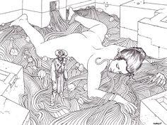 Moebius, 2006 #comics #illustration #moebius